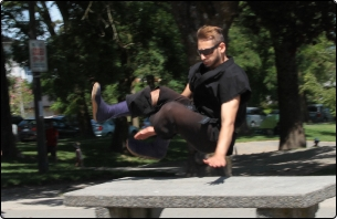 Sean Parkour dash vault